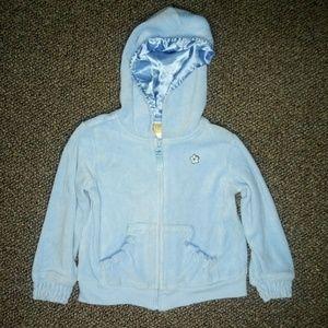 Blue Velour Sweatshirt 4t